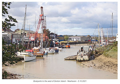 Boatyards to the west of Denton Island - Newhaven - 5 10 2021