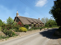 An old thatched cottage.