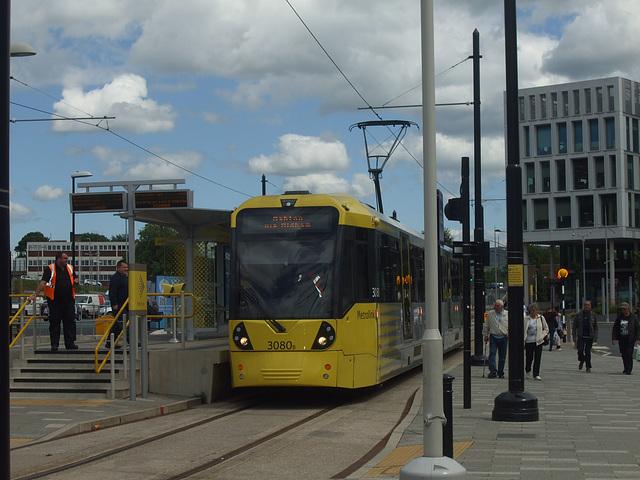 DSCF0487 Manchester Metrolink car set 3080 in Rochdale -  4 Jul 2016