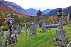Laid to rest with a view ~ Glen Nevis cemetery