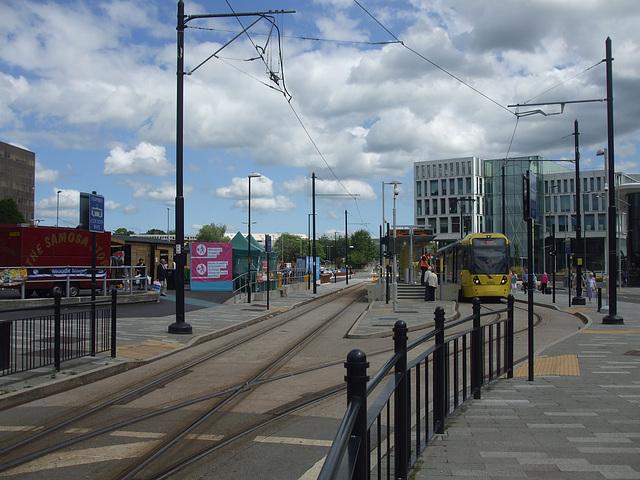 DSCF0490 Manchester Metrolink car set 3080 in Rochdale -  4 Jul 2016