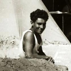 Pierre au Camping de l'ACGR 1955