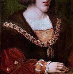 IMG 1117CBA Barend van Orley. 1488-1551. Bruxelles.  Portrait de Charles Quint. Portrait of Charles V  vers 1516.  Brou.  Musée du Monastère Royal