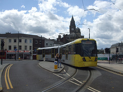 DSCF0494 Manchester Metrolink car set 3080 in Rochdale -  4 Jul 2016