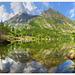 La punta Mulatera si rispecchia nel lago dell Arpone
