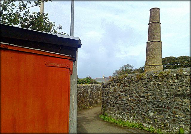 Penandrea mine chimney, Redruth, Cornwall.