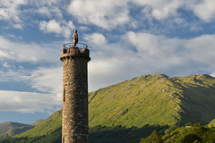 The Jacobite monument, Glenfinnan - and a Happy (High) Fence Friday!