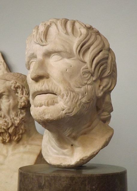 Marble Head of an Old Man, Perhaps the Poet Hesiod (Pseudo-Seneca) in the British Museum, May 2014