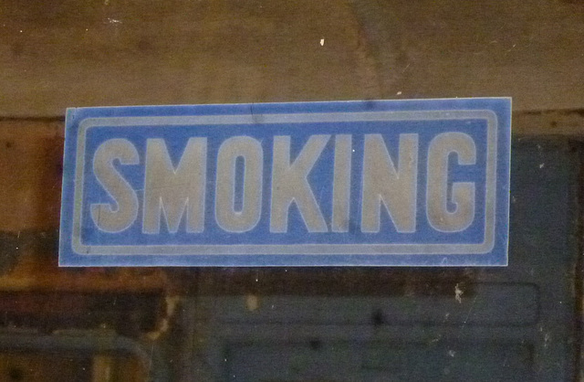 NER7cmpt - SMOKING sign