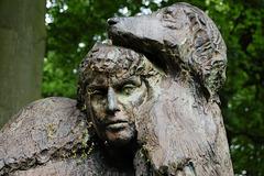 'Carrying the Afgan Hound' by John Mills, Renishaw Hall Gardens, Derbyshire
