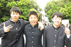 Jeunes collégiens à Ise (Kansai, Japon)