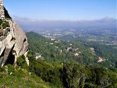 High up, no Castelo dos Mouros.