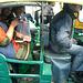 Delhi- Smiling Girls in an Auto Rickshaw
