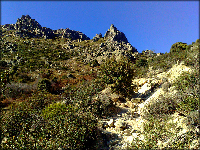 Sierra de La Cabrera. Path up to (or down from) EL Cancho Gordo.