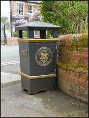 black and gold fox bin
