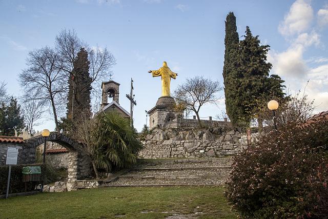 Statua del Cristo Re Bienno, Brescia - Italia