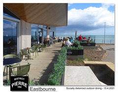 Socially distanced outdoor dining Eastbourne 15 4 2021
