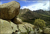 Three days ago I posted a shot of a large boulder threatening to crush the town of La Cabrera. How did this rock stay in position? I promised to show how on Friday. Today is Friday. THIS IS THE SAME BOULDER!!!!!!!!! H. A. N. W. E. everyone!