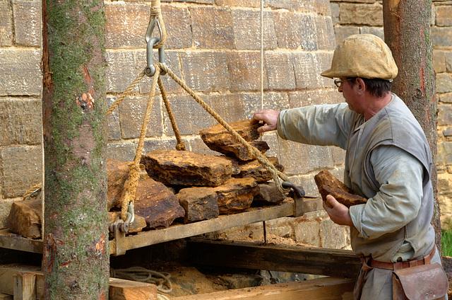 Le chargement de la grue peut atteindre jusqu'à 500 kg