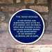 Blue plaque for the alms houses
