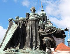 Monument to John Huss by Ladislav Saloun, Old Town Square, Prague