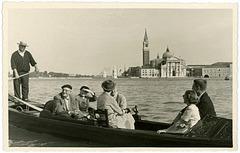 Gondola Ride, Venice, Italy, 1952
