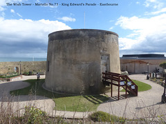 Wish Tower Martello 73 Eastbourne 15 4 2021 from north
