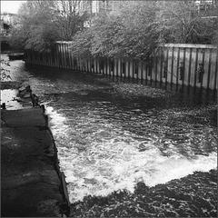 Weir on Wandle, Wandsworth.