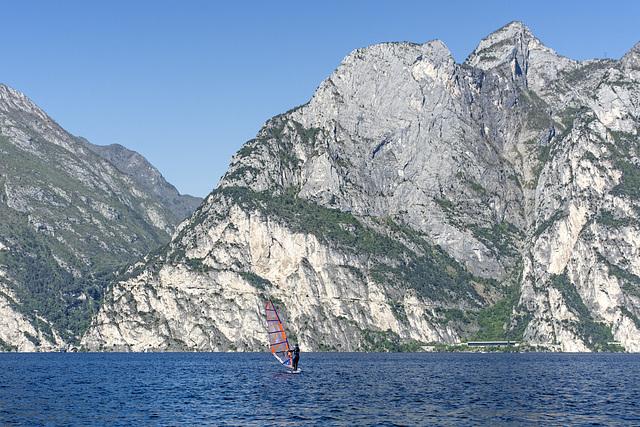 Sailboarding at Lake Garda