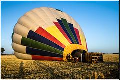 Vuelo en globo sobre campos de lavanda  (Brihuega - Guadalajara)