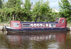 Boat, Monmouthshire-Brecon Canal, Brecon 23 August 2017