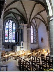 Divine lightbeam in the abbey