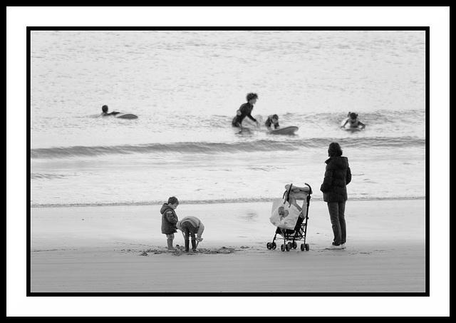 Une mère à la mer