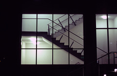 steps and stairs by night