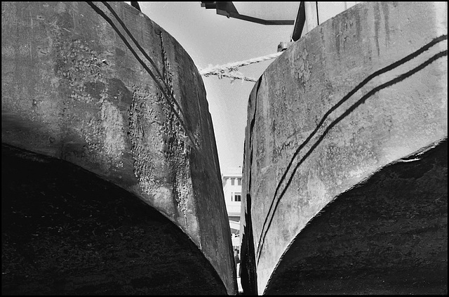 Barges near Blackfriars. London EC4.