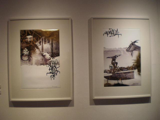 Street art in gallery.