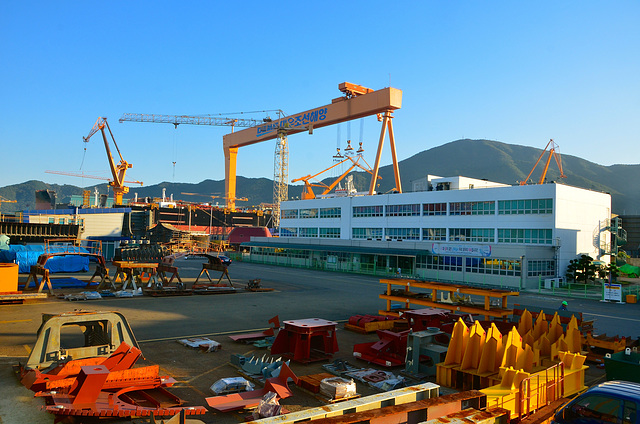 DSME shipyard, Okpo South Korea