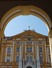 Entering the Courtyard of Melk Abbey