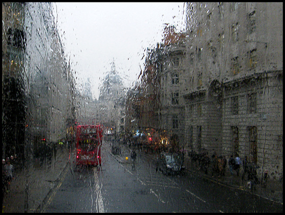 rainy day on a number 15 bus