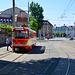 """Leipzig 2019 – Große Leipzig-Stadtrundfahrt mit der Straßenbahn – LVB 1600 """"Offener Leipziger"""" on the Kurt-Schumacher-Straße"""