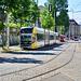 """Leipzig 2019 – Große Leipzig-Stadtrundfahrt mit der Straßenbahn – LVB 1206 and 1600 """"Offener Leipziger"""" on the Kurt-Schumacher-Straße"""