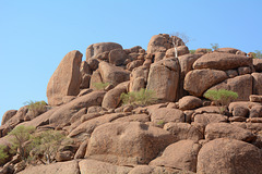 Namibia, Huge Boulders in the Mowani Mountains