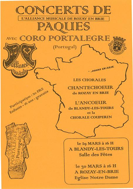 Concerts Ancoeur - Portalegre les 29 et 30/03/1997