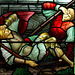 Detail of Morris and Co stained glass, St John the Baptist's Church, Upper Elkstone, Staffordshire