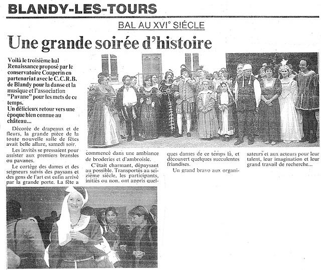 Bal Renaissance à Blandy-les-Tours 24/05/1997