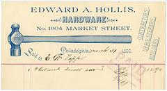 Edward A. Hollis, Hardware, Philadelphia, Pa., 1890