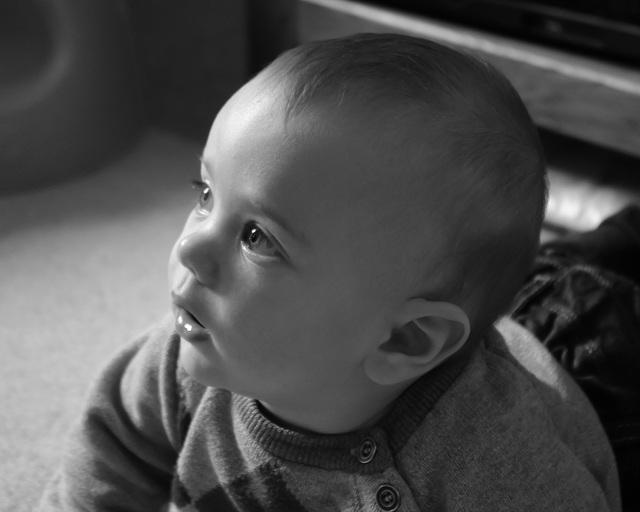 Portrait in digital black and white