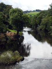 River Usk, Cefn Brynich Bridge, Brecon 23 August 2017