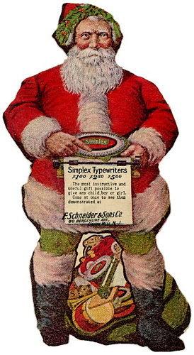 Santa's Favorite Simplex Typewriters, 1908