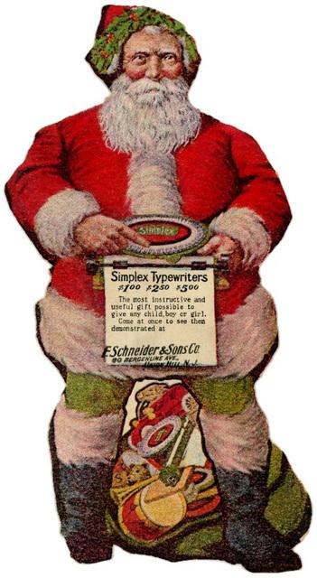 Santa's Favorite Simplex Typewriters, 1908